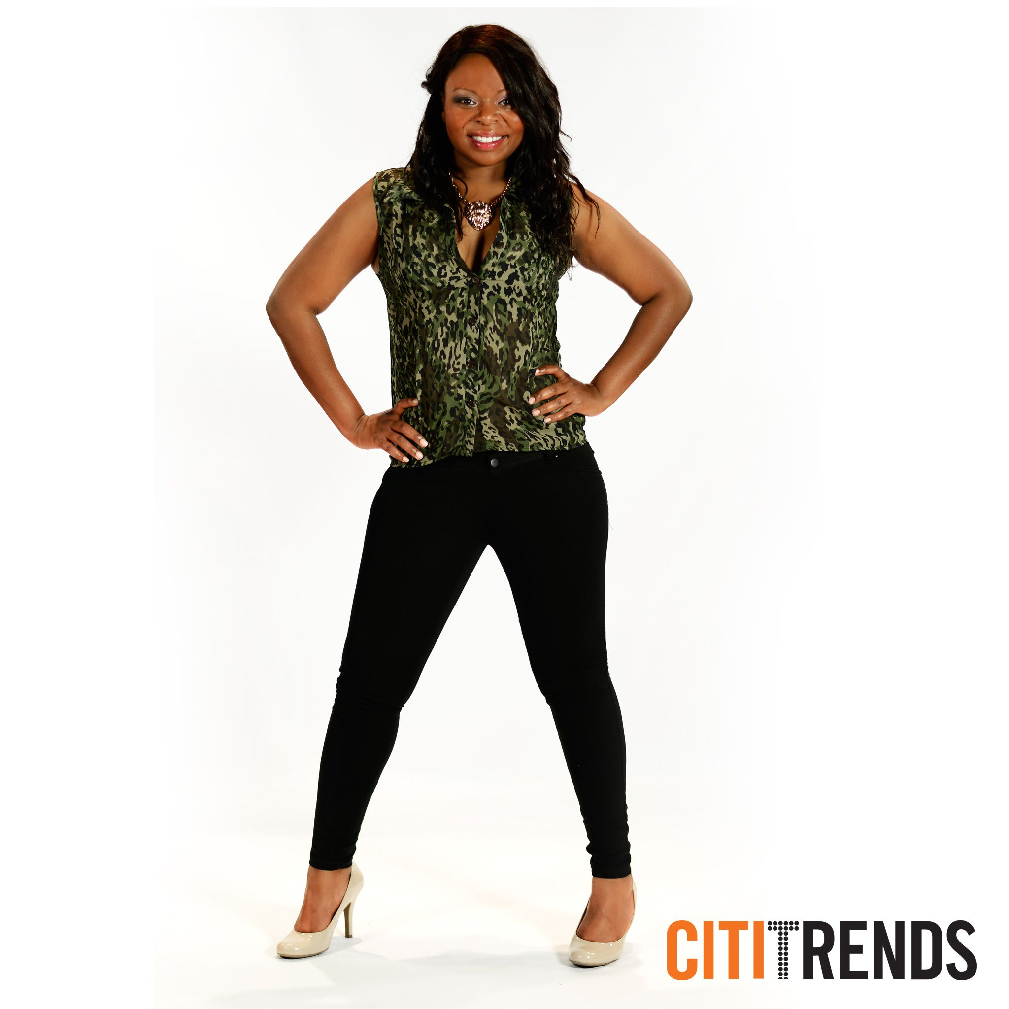 Meet at the club in this sexy dress with side illusion available at Citi Trends now