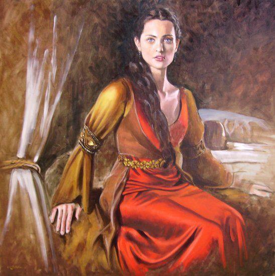 vetements de l'époque celtiques Tableau d'une femme