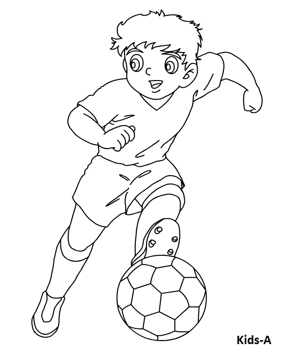 Fussball Kids Ausmalbildertv Ausmalbilder Fussballspieler Zeichnung Perspektive Zeichnen