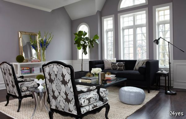 Great Gray Living Rooms