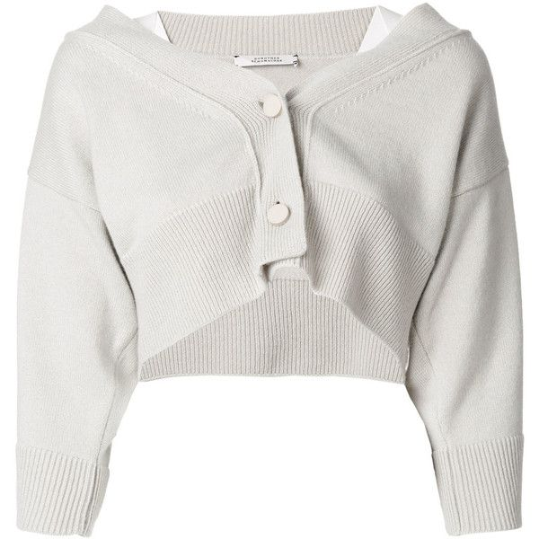 Dorothee Schumacher cropped cardigan ($740) ❤ liked on Polyvore ...