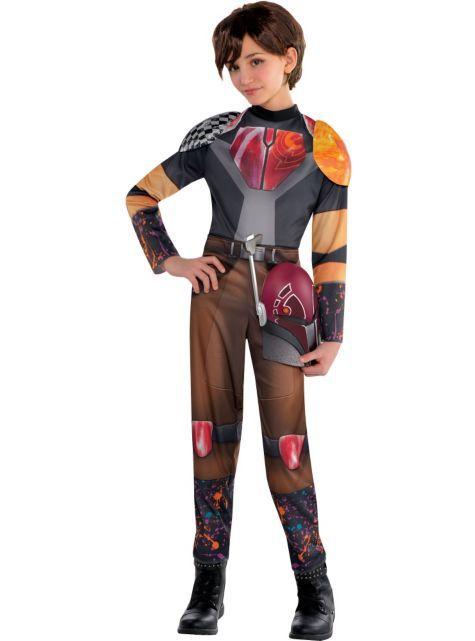 Girls Sabine Costume - Star Wars Rebels - Party City