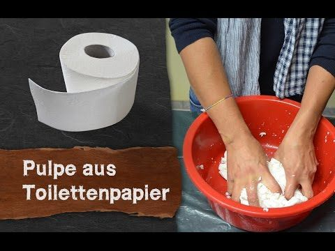 pulpe pappmach aus toilettenpapier selber machen youtube diy verschiedenes different. Black Bedroom Furniture Sets. Home Design Ideas