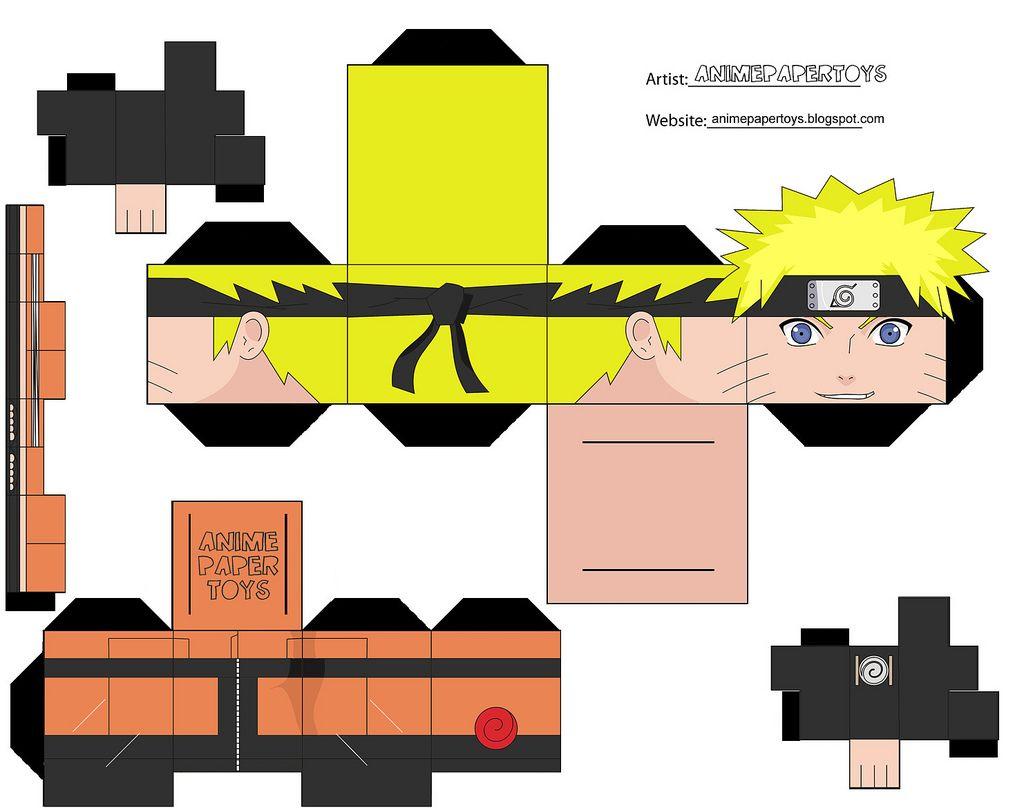 Papercraft Cubee Cubeecraft Naruto Shippuden Anime Paper Toy