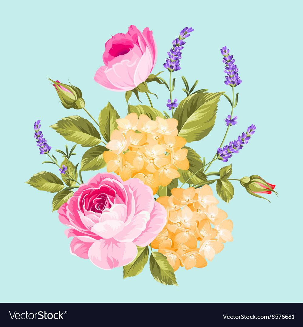 Single rose bouquet vector image on