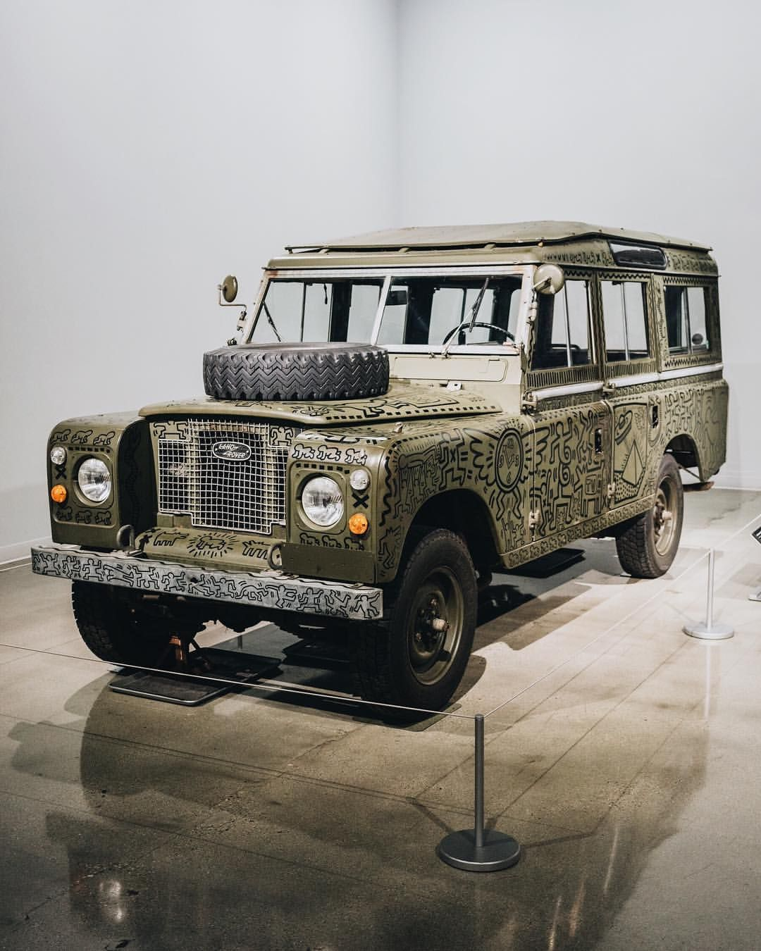 The 1971 Land Rover Series III 109 painted in 1983 by