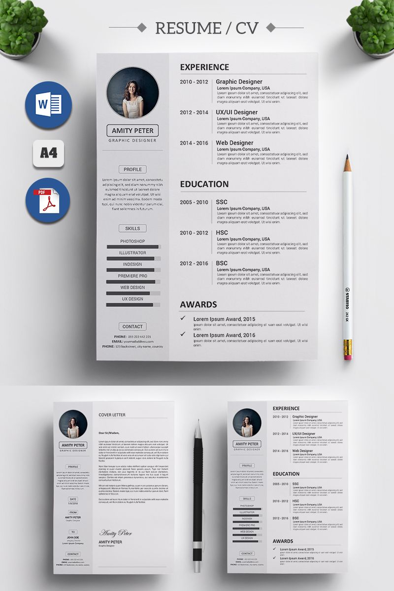 Amity Peter Cv Resume Template 71495 Illustration