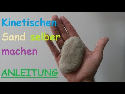 diy kinetic sand selber machen sandknete selbst machen anleitung magic sand knete deutsch. Black Bedroom Furniture Sets. Home Design Ideas