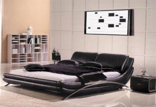 Amazon Com 3pc Modern Queen Leather Bedroom Set Am B8223 Q