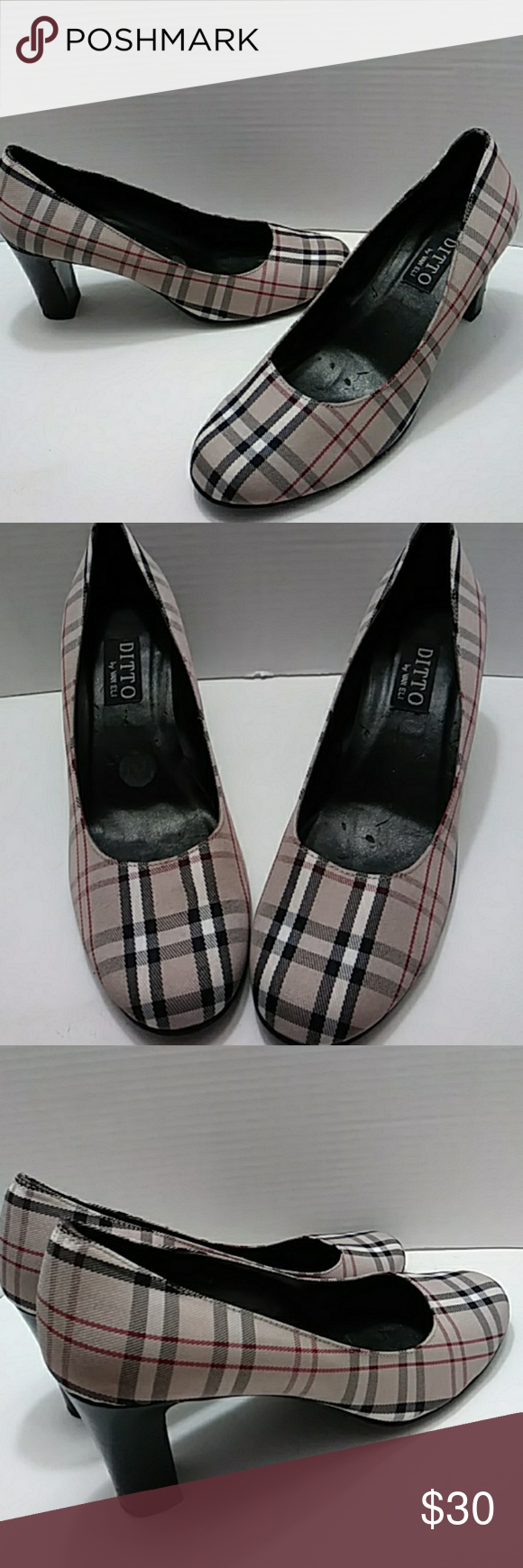 1a9039ff564 Ditto by Van Eli plaid pumps Nice pumps in good condition