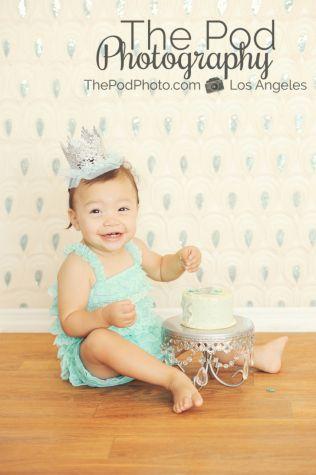 Best First Birthday Cake Smash Photographer Pacific Palisades SusieCakes