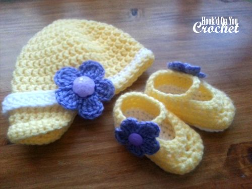 Adorable Crochet Baby Hat And Booties Free Pattern Crochet