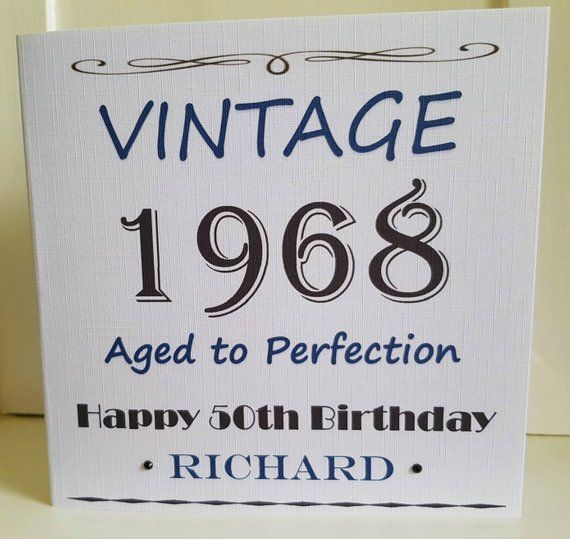 50th Birthday Card For Dad Son Brother Friend Personalised With Name And Year Male Card 40t Birthday Cards For Son Dad Birthday Card 50th Birthday Cards
