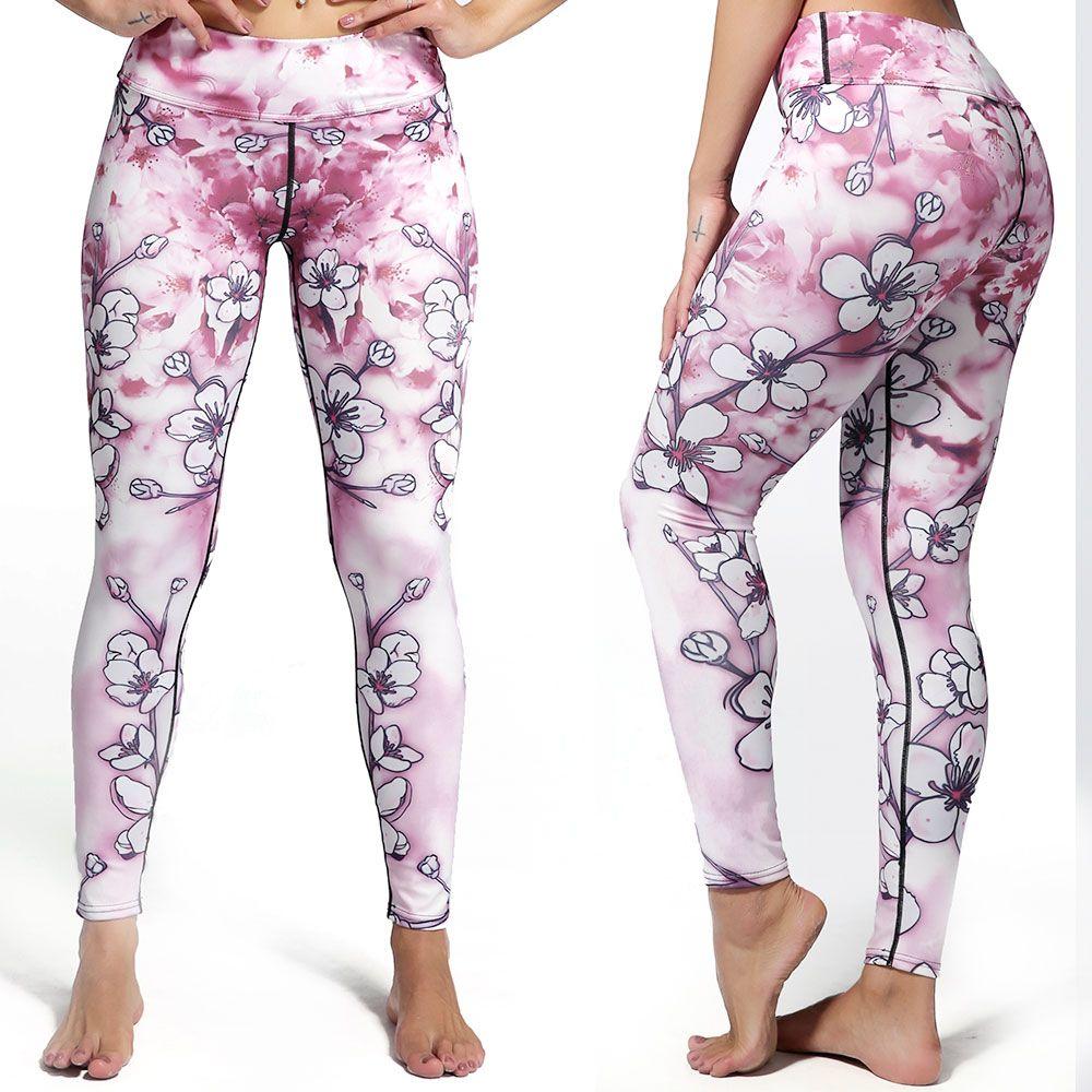 63b9176ad6728 Best selling sakura sublimated printing pants yoga leggins gym wear ...