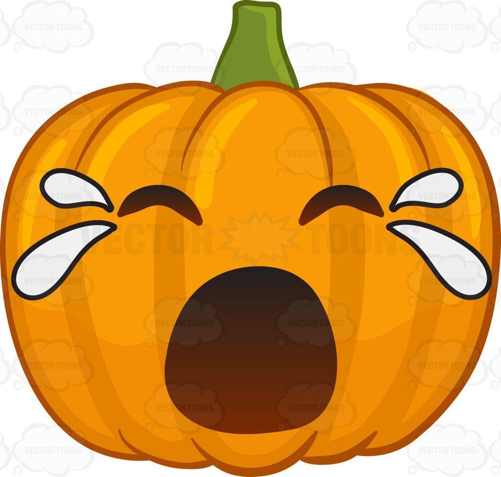 A crying Halloween pumpkin #cartoon #clipart #vector # ...