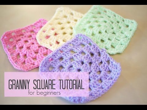Tutorials On How To Crochet For Beginners : Beginner Crochet Patterns Granny squares