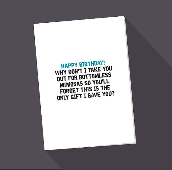 Funny clever blank greeting cards and note cards denver discover ideas about bottomless mimosas m4hsunfo