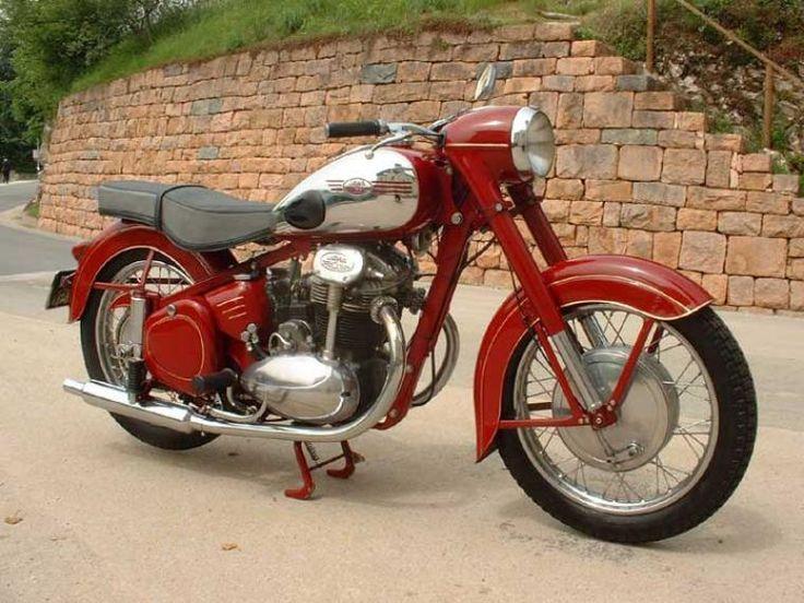 1958 Jawa 500 Motos Anciennes Motos Retro Motos