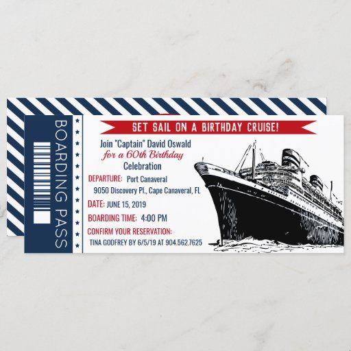 Nautical Themed Invitation Birthday Invitation Sea Inspired Navy Blue Cruise Ship Birthday Anchor Navy Blue Ocean Maritime Sea Side