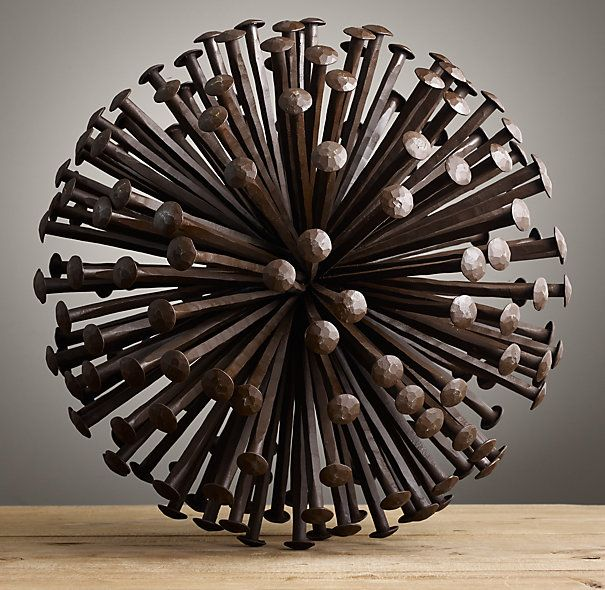 1920S Iron Nail Sphere | Restoration Hardware | Home | Pinterest ...