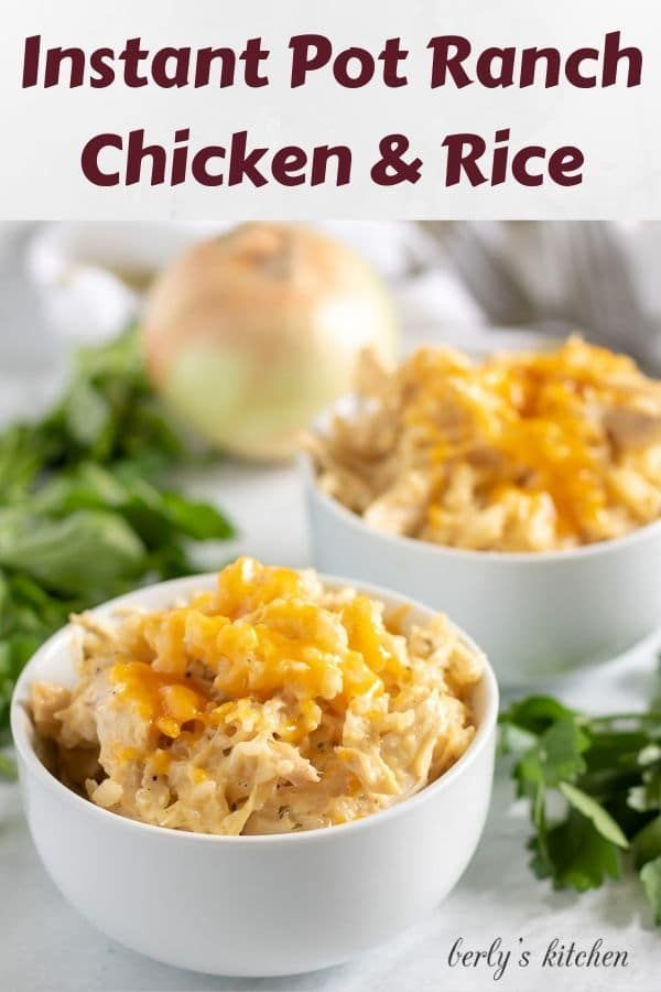 Instant Pot Ranch Chicken and Rice #seasonedricerecipes
