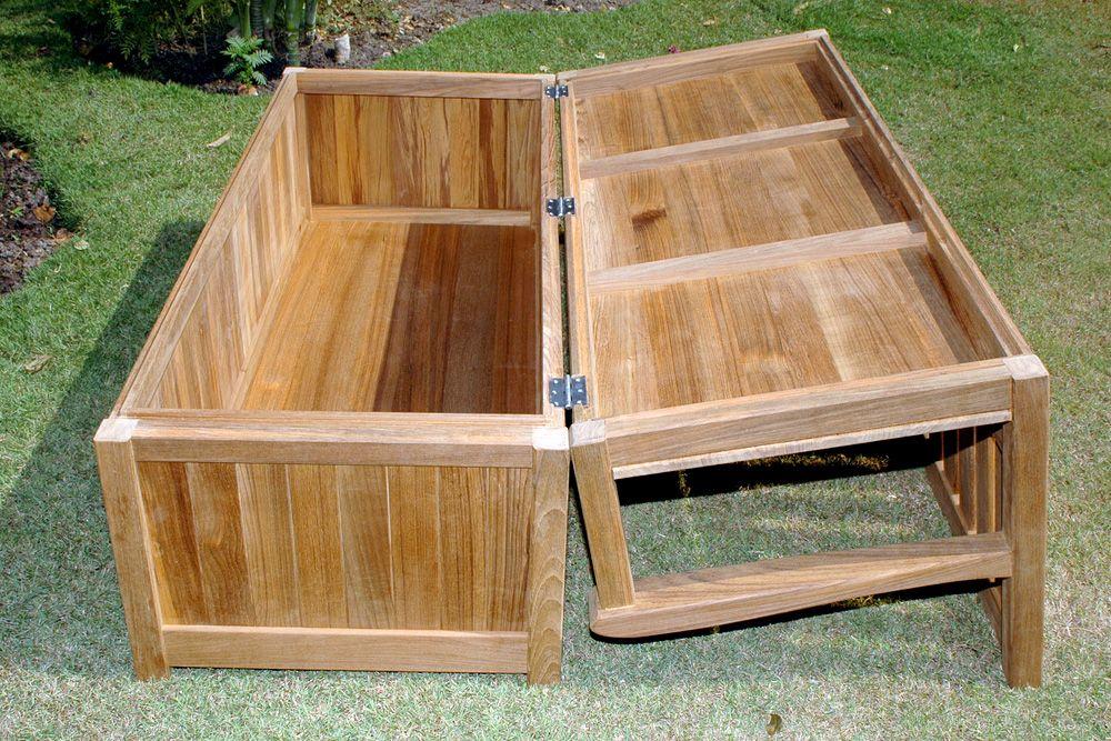 Garden storage bench outdoor storage bench garden