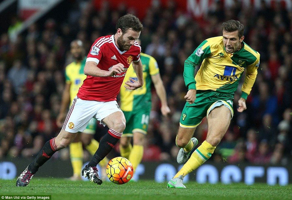 Manchester United 1 2 Norwich City Jerome And Tettey Strike Manchester United Manchester Juan Mata