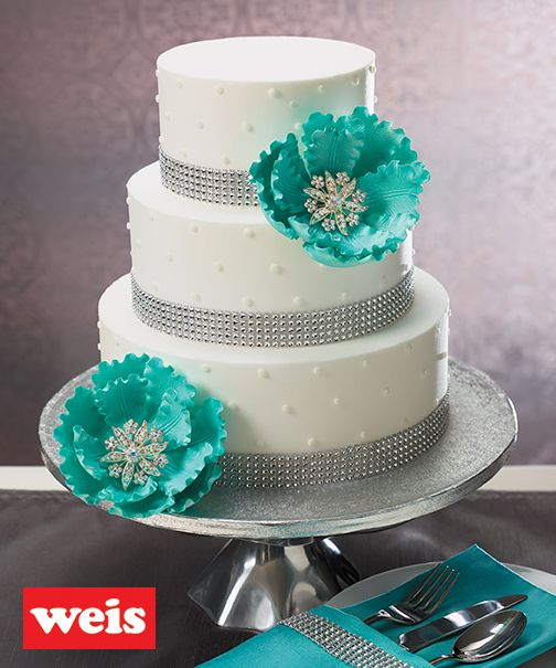 Weis Quality Exclusive Wedding Cake 10x8x6 – Serves 78 · 3 tiers ...
