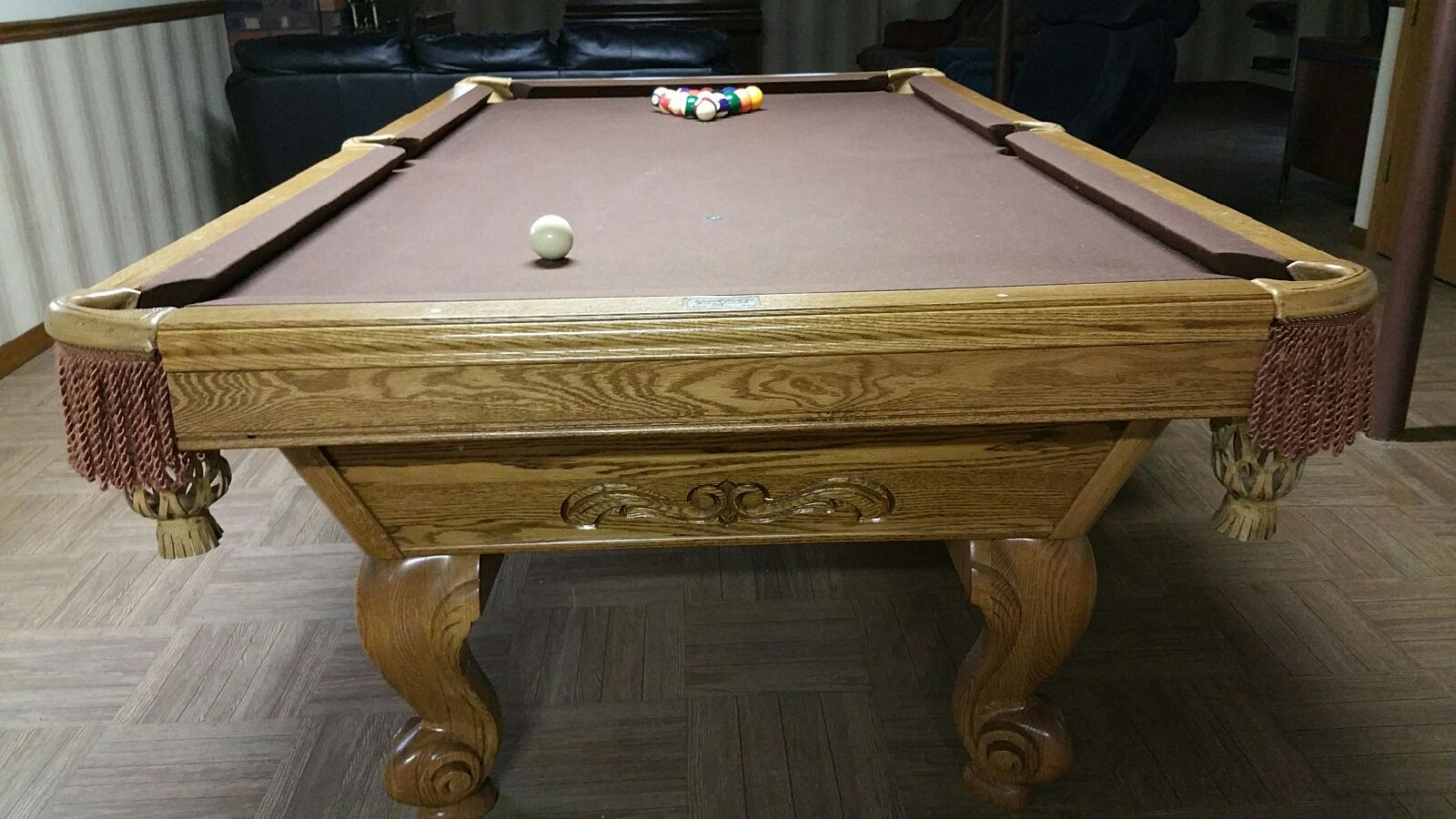 gorgeous solid wood brunswick billiards manchester pool table sold