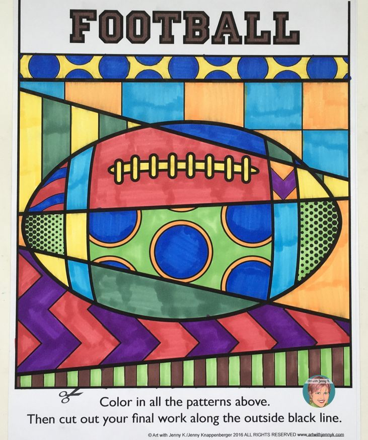 207de07c Sports related coloring sheets kids love! Versions for younger children ( pattern filled) and older children (interactive) that make this great for  any age!