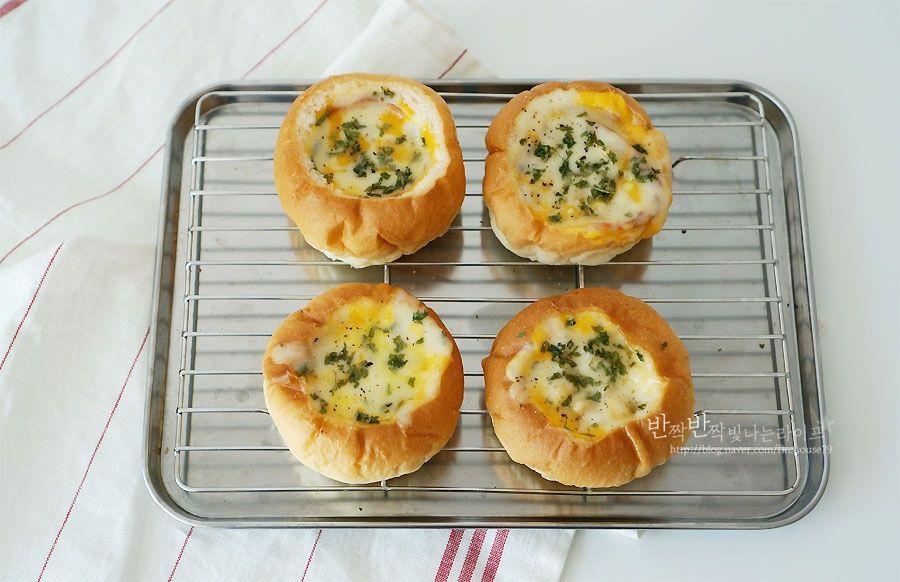 노오븐 베이킹/햄치즈빵 : 간단한 간식 만들기