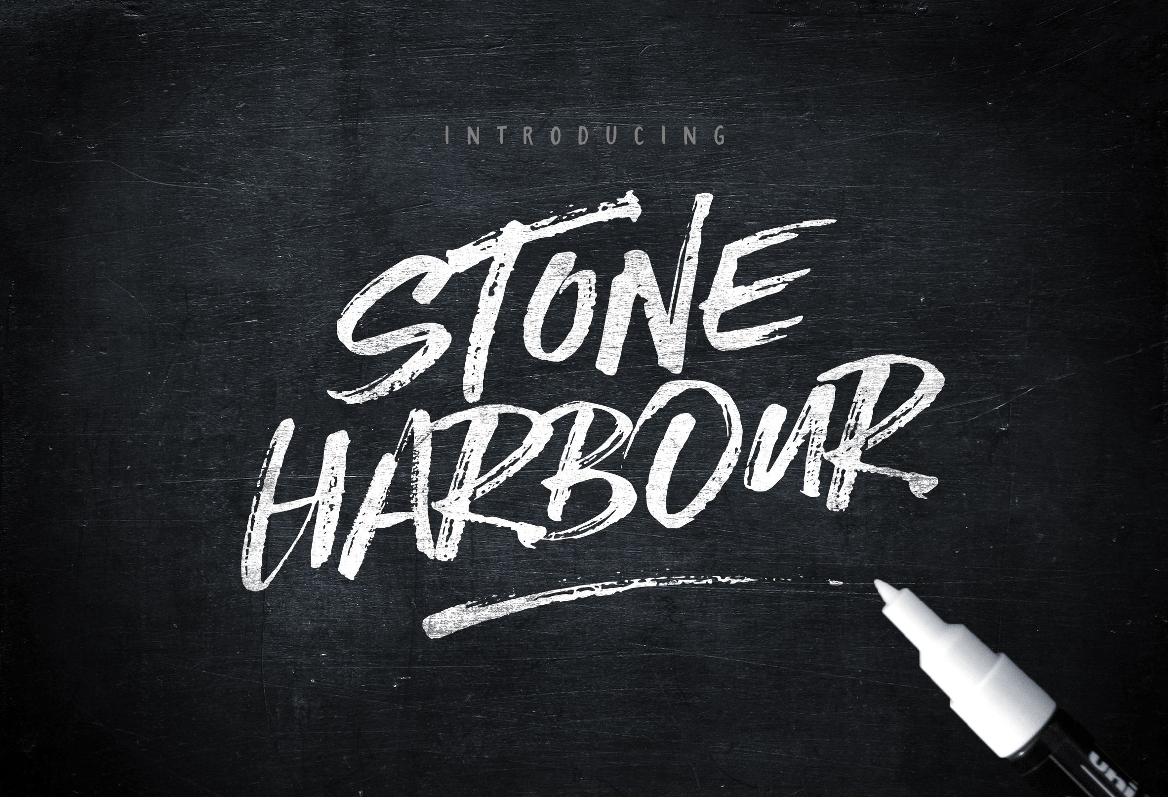 Stone Harbour Brush Font Extras Brush Font