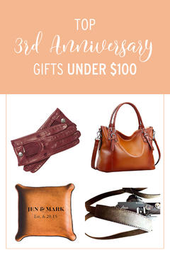 3rd Wedding Anniversary Gifts Under 100 Leather Wedding Anniversary Leather Wedding Anniversary Gifts Leather Anniversary Gift