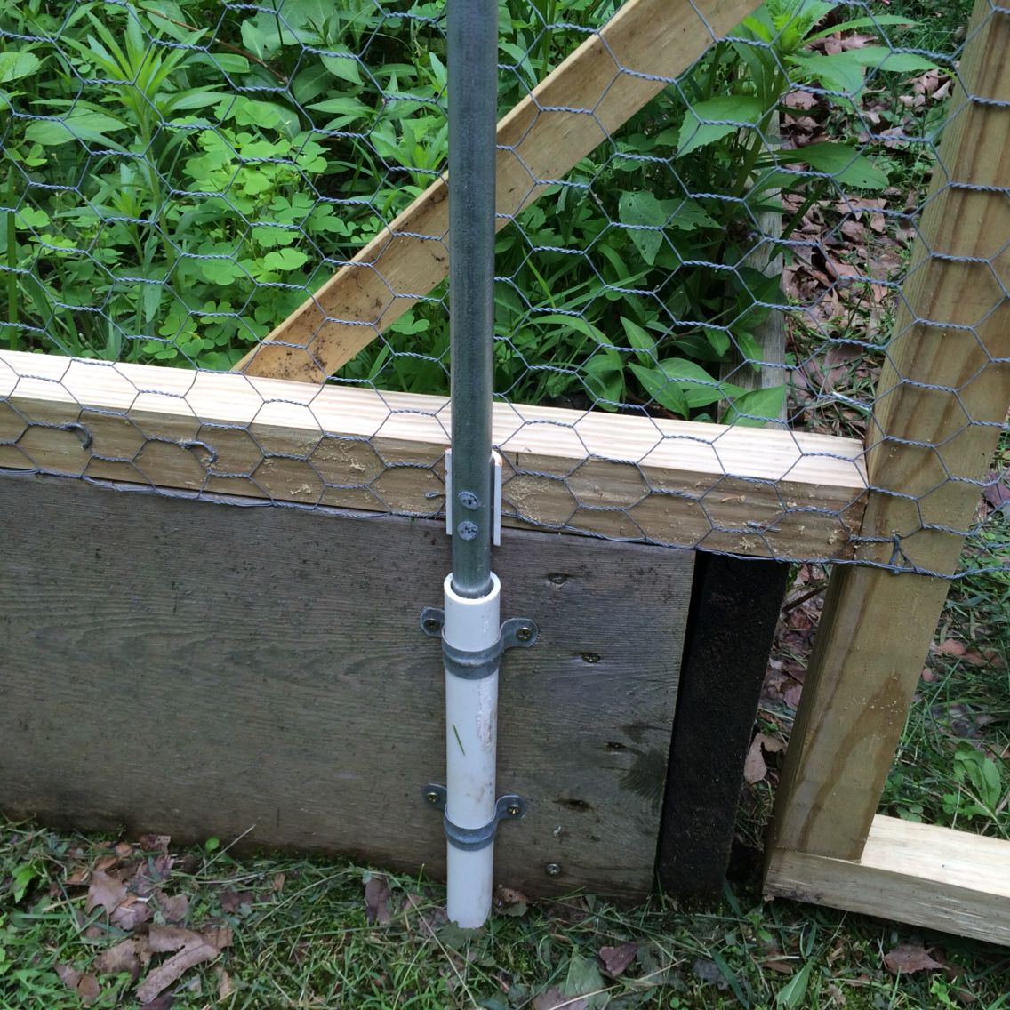 Exceptional Removable Garden Fence Constructed From Reused PVC Pipe, Electrical Conduit  And Chicken Wire From The