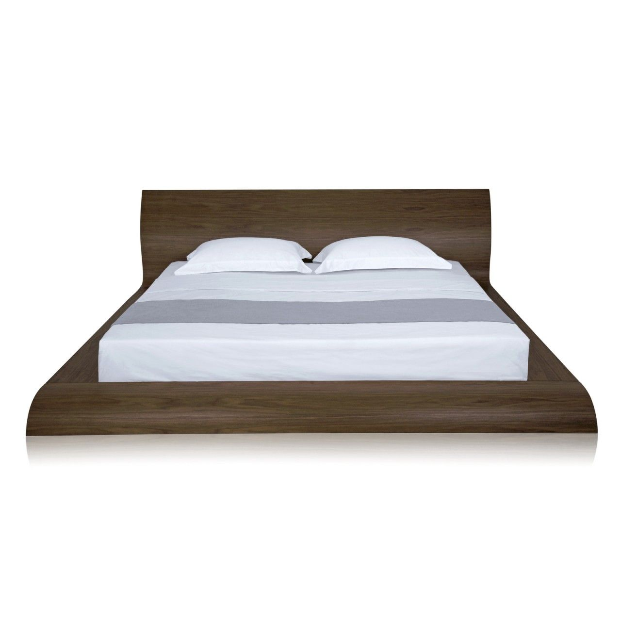 Modern Platform Bed Store Waverly Platform Bed Queen Walnut