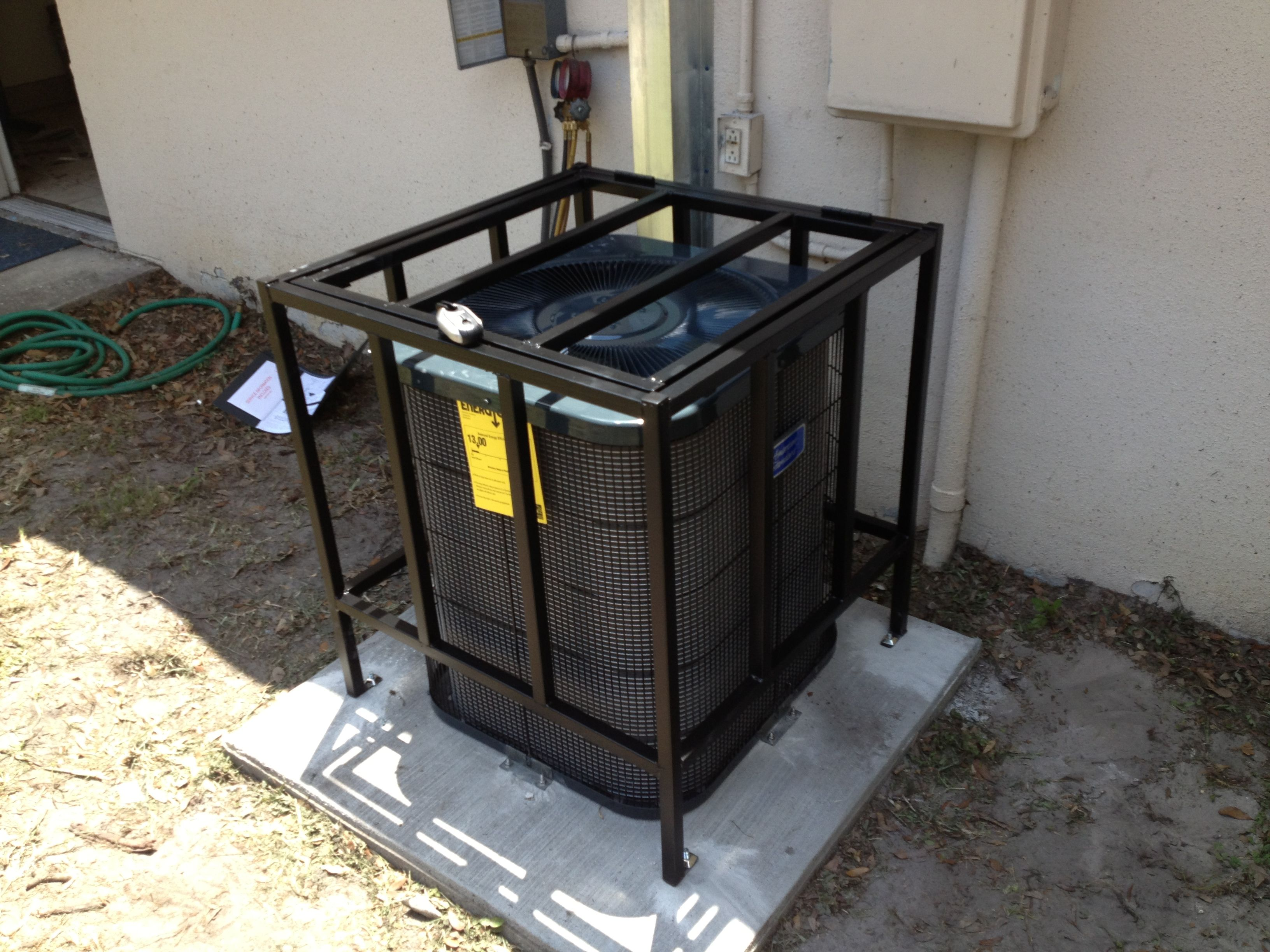 We Now Offer A Complete Line Of Air Conditioner Cages Designed To Fit Any Budget And Any Level Of Security Here Is Our Sta Home Security Cage Projects To Try