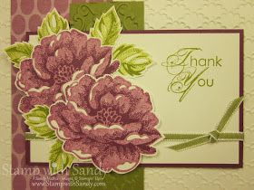 Stamp With Sandy: Stippled Blossoms and Two Challenges