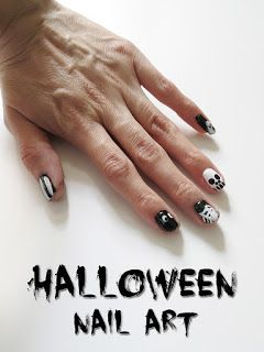 5 Halloween Nail Art Designs! Easy Black & White Nail Tutorial / 5 Diseño de Uñas! Día de Muertos! Fáciles y Bonitas #hallowen #trickortreat #nailart #naildesigns #halloweennails #manicure #nails #mani