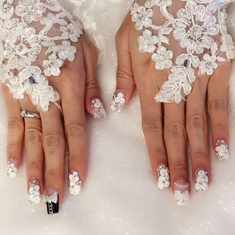 Wedding Nail Art 2016 Lace