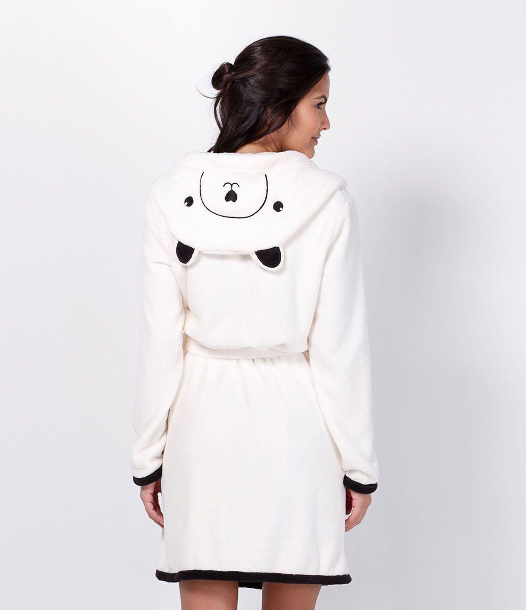 cc2cf39ac74632 Robe feminino Manga longa Gola com capuz Com estampa de gatinho ...