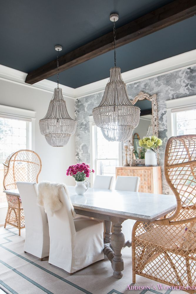 Elegant Fun Vintage Boho Dining Room Reveal