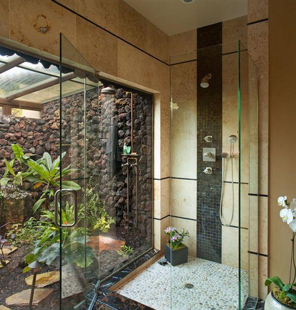 outdoor-shower-closer-to-bathroom | Tropical bathroom ...