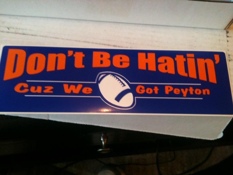 Peyton manning bumper sticker denver broncos