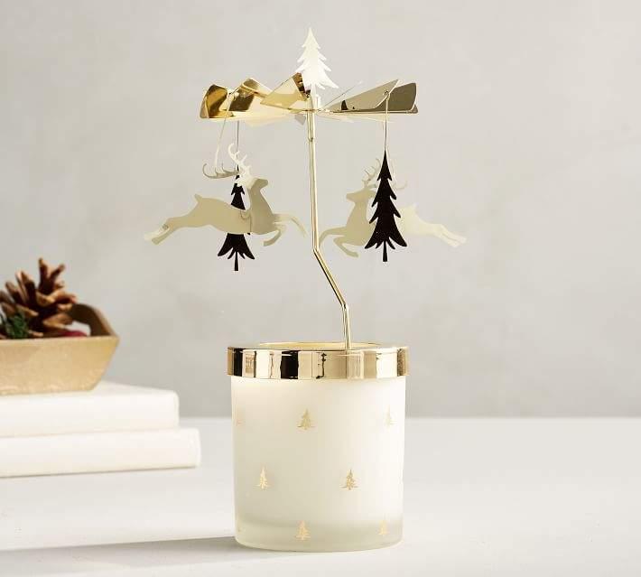 Pottery Barn Reindeer Amp Pine Tree Carousel Candlepot