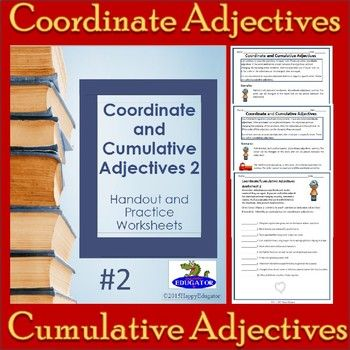 Coordinate Adjectives And Cumulative Adjectives Worksheets