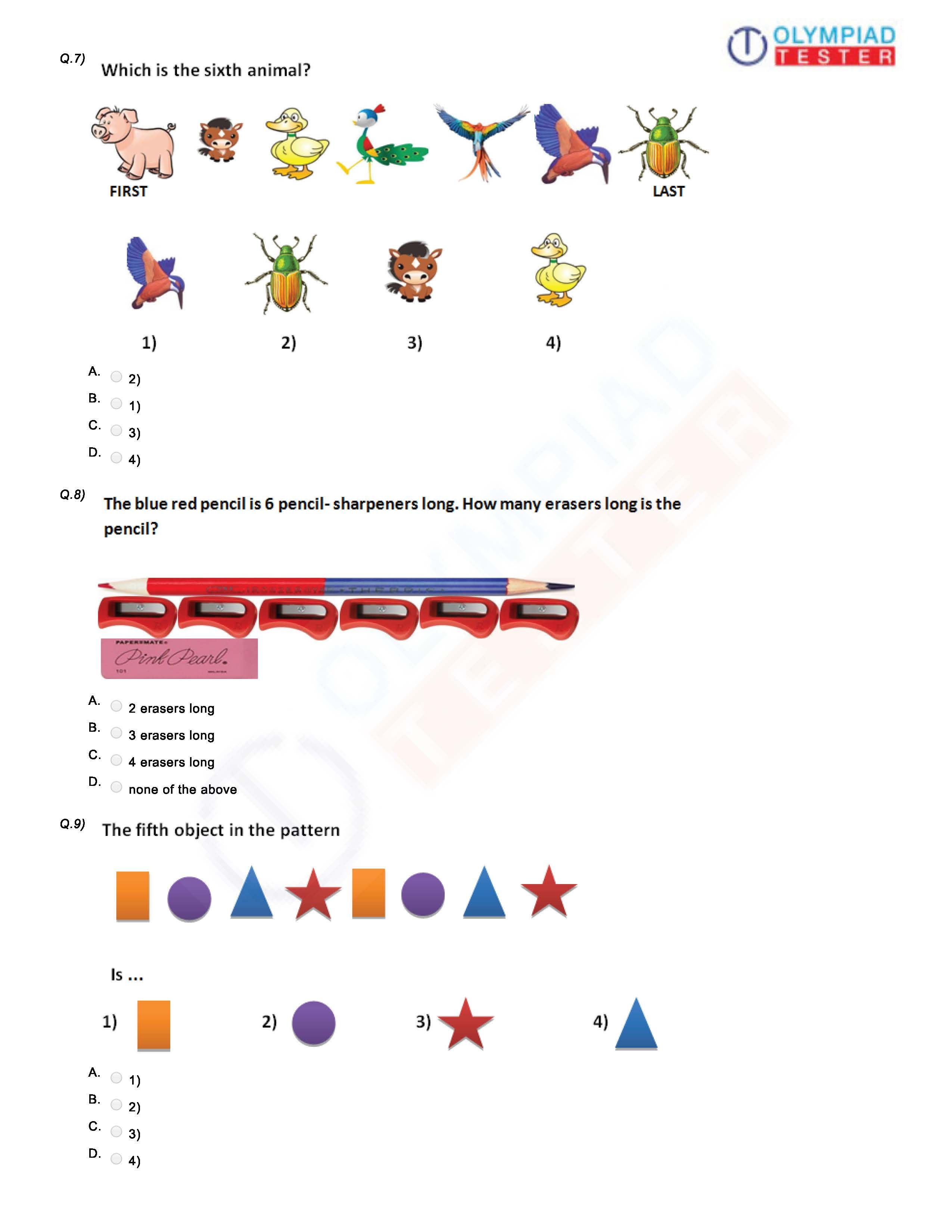 Download Pdf Worksheet For Class 1 Logical Reasoning In Science