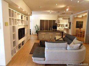 Cucina con soggiorno - Cucina e soggiorno open space