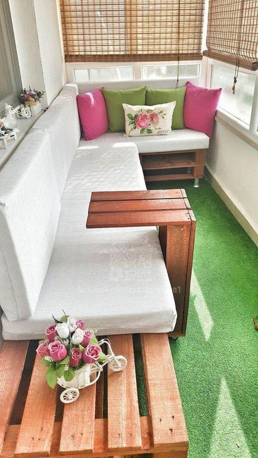Living Room Balcony Design: Trendy Apartment Balcony Decoration Ideas 24