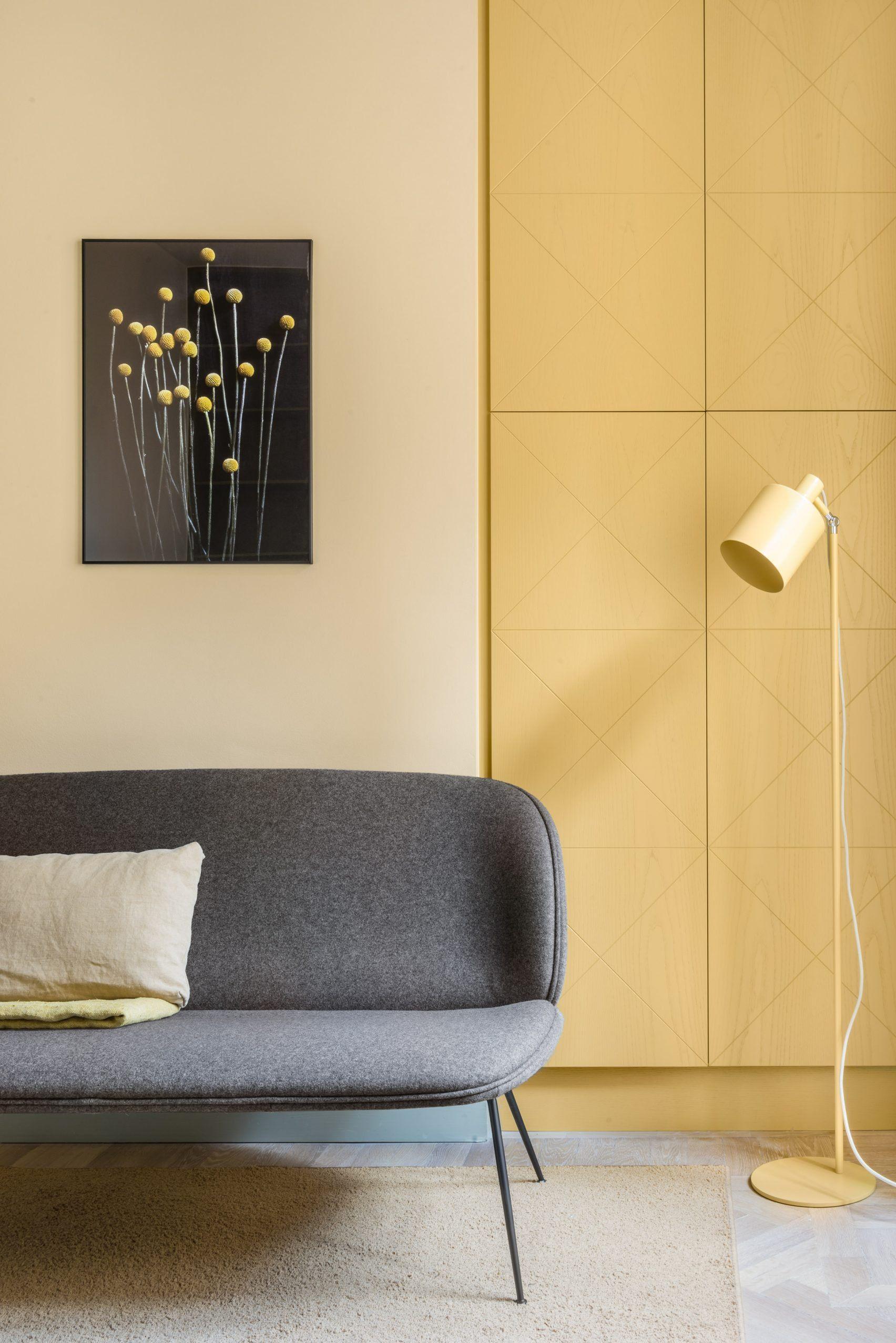 couleur vert amande appartement deco   Pastel interior, Interior ...