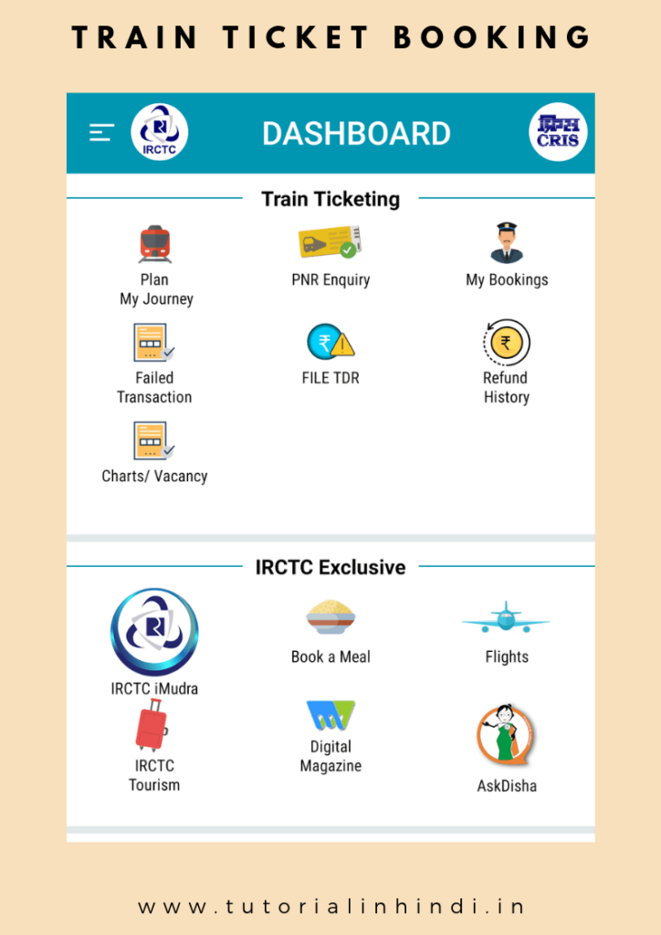 Pin By Jeklin White On Tutorial In Hindi Train Ticket Booking Online Tickets Train Tickets